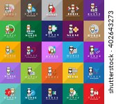 nurse and medical workers icons ... | Shutterstock .eps vector #402643273
