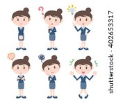 young woman character various... | Shutterstock .eps vector #402653317