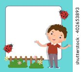 background with cute boy | Shutterstock .eps vector #402653893