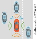 automobile sensors use in self... | Shutterstock .eps vector #402657577