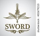 sword logo design | Shutterstock .eps vector #402679213