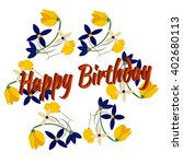 cute happy birthday card design ... | Shutterstock .eps vector #402680113