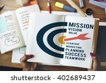 mission target aspirations... | Shutterstock . vector #402689437