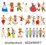 vector design of men performing ... | Shutterstock .eps vector #402698497
