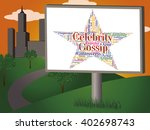 celebrity gossip representing... | Shutterstock . vector #402698743