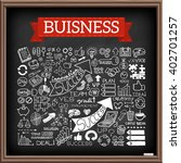 doodle icons. business symbols... | Shutterstock .eps vector #402701257