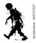 rotting zombie soldier  | Shutterstock .eps vector #402727327