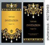 wedding invitation or card with ... | Shutterstock .eps vector #402730483