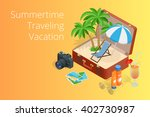 summer vacation concept. online ... | Shutterstock .eps vector #402730987