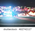 city road in dark night | Shutterstock . vector #402742117