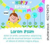 happy birthday card design... | Shutterstock .eps vector #402743473