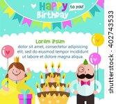 happy birthday card design...   Shutterstock .eps vector #402743533