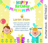 happy birthday card design... | Shutterstock .eps vector #402743617