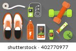 fitness and healthy lifestyle... | Shutterstock .eps vector #402770977