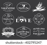 valentines love white on black   Shutterstock .eps vector #402795247