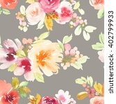 seamless pattern with flowers... | Shutterstock . vector #402799933