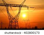electric pylons | Shutterstock . vector #402800173