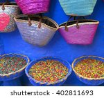 dry rose buds on the market in...