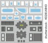 furniture top view | Shutterstock .eps vector #402814843
