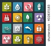 set of eco icons in flat style... | Shutterstock . vector #402835183