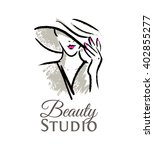 logo for the beauty studio.... | Shutterstock .eps vector #402855277