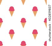 ice cream cone seamless pattern.... | Shutterstock .eps vector #402859837