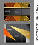 vector modern tri fold brochure ... | Shutterstock .eps vector #402871627