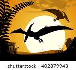 dinosaur pterodactyl.... | Shutterstock .eps vector #402879943