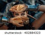 Tribal Woman Portrait Outdoors