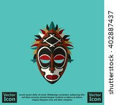 flat style icon with tribal... | Shutterstock .eps vector #402887437