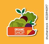 organic shop design  vector... | Shutterstock .eps vector #402894097