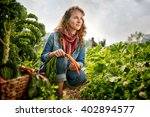 Friendly Woman Harvesting Fres...