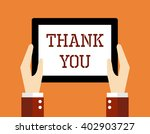 business concept  thank you. | Shutterstock .eps vector #402903727