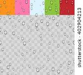 Water Transparent Drops...