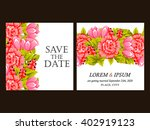 invitation with floral... | Shutterstock .eps vector #402919123
