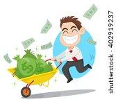 businessman carrying money bag... | Shutterstock .eps vector #402919237