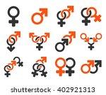 sexual relation symbols vector... | Shutterstock .eps vector #402921313
