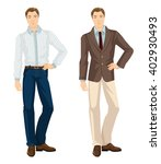 vector illustration of men in... | Shutterstock .eps vector #402930493