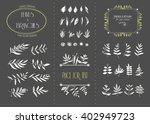 hand drawn floral elements. set ... | Shutterstock .eps vector #402949723