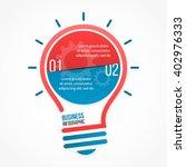 light bulb vector infographic... | Shutterstock .eps vector #402976333