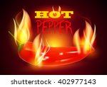 hot pepper. chili in fire.... | Shutterstock .eps vector #402977143
