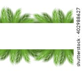 leaves of palm tree on white... | Shutterstock . vector #402988627