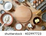 baking ingredients background ... | Shutterstock . vector #402997723