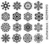 flat snowflakes. icons isolated ... | Shutterstock . vector #402999493