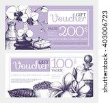 2 vector gift voucher design... | Shutterstock .eps vector #403006723