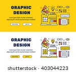 flat line icons design of... | Shutterstock .eps vector #403044223