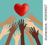 group of diversity hand... | Shutterstock .eps vector #403054027