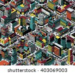 colorful city blocks isometric... | Shutterstock .eps vector #403069003
