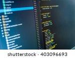 software background. writing... | Shutterstock . vector #403096693