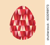 easter holiday egg pattern card | Shutterstock .eps vector #403098973